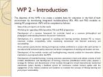 wp 2 introduction