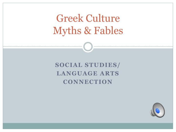 greek culture myths fables n.