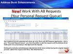 new work with ab requests your personal request queue