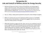 perspective 1 link and costs ci of military action for energy security