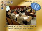 creacion del consejo municipal de ni as y ni os de santander