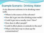 example scenario drinking water