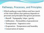 pathways processes and principles
