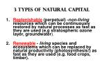 3 types of natural capital