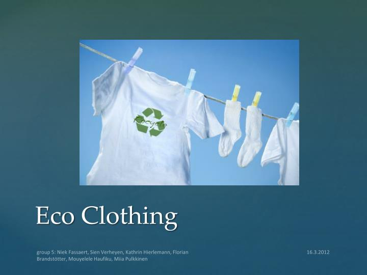 eco clothing n.