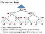 file version tree