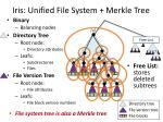iris unified file system merkle tree