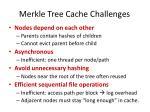 merkle tree cache challenges
