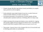 ghg climate change some ve news