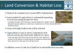 land conversion habitat loss