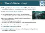 wasteful water usage