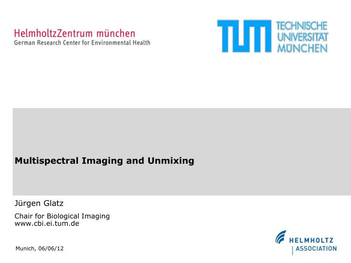 multispectral imaging and unmixing n.