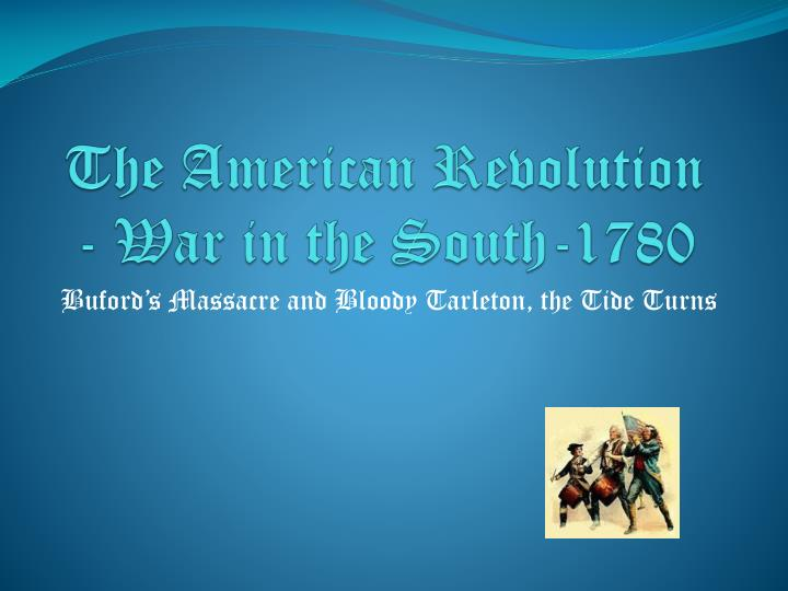 the american revolution war in the south 1780 n.