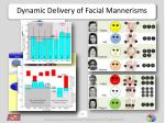 dynamic delivery of facial mannerisms