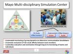 mayo multi disciplinary simulation center