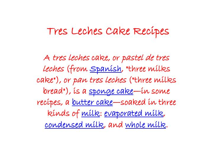 tres leches cake recipes n.