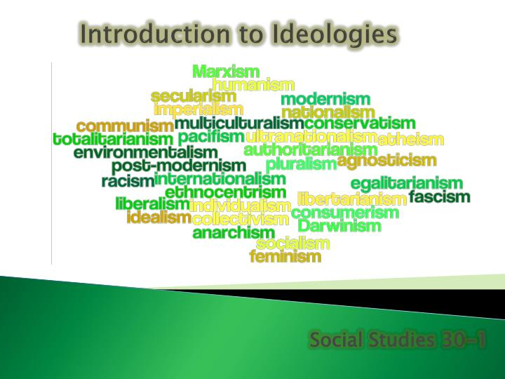 introduction to ideologies n.