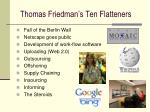 thomas friedman s ten flatteners