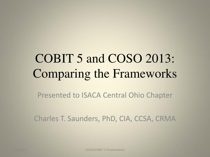 cobit 5 and coso 2013 comparing the frameworks n.