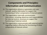 components and principles information and communication