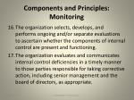 components and principles monitoring