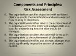 components and principles risk assessment