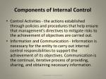 components of internal control1
