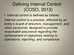 defining internal control coso 2013