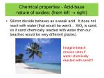 chemical properties acid base nature of oxides from left right2