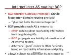 internet inter as routing bgp
