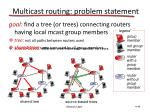 multicast routing problem statement