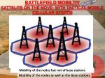 battlefield mobiltiy sattelite on the move with tactical mobile cellular system