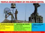 people development of the human capital