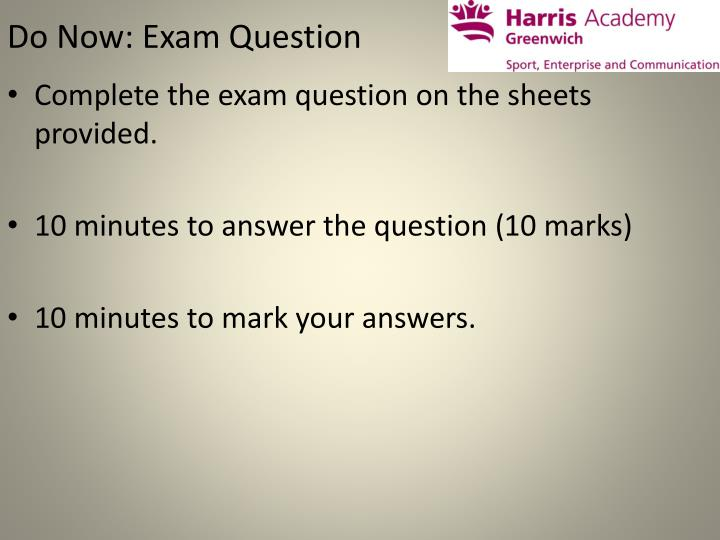 do now exam question n.