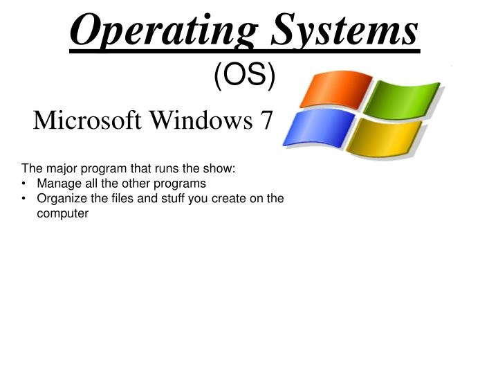Operating systems os