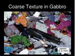 coarse texture in gabbro