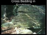 cross bedding in sandstone