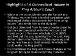 highlights of a connecticut yankee in king arthur s court