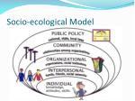 socio ecological model