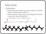 fatty acids1