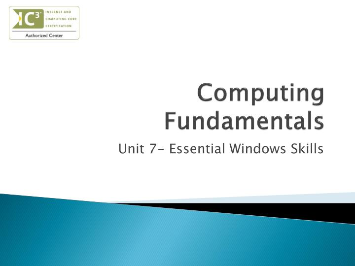 computing fundamentals n.