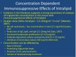 concentration dependent immunosuppressive effects of intralipid