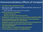 immunomodulatory effects of intralipid1