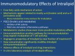 immunomodulatory effects of intralipid2