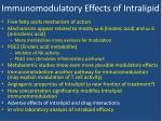 immunomodulatory effects of intralipid7