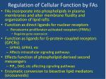 regulation of cellular function by fas