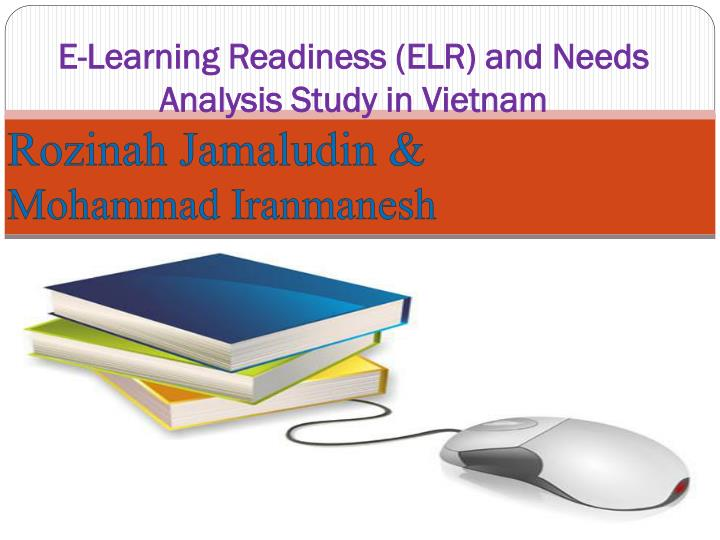 e learning readiness elr and needs analysis study in vietnam n.