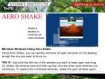 aero shake