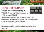 how to flip 3d