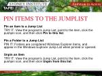 pin items to the jumplist